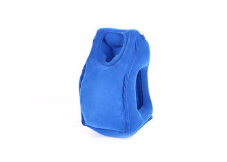 High Durability Inflatable Neck Rest , Custom Color Blow Up Travel Neck Pillow supplier